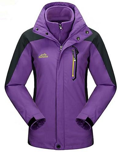 cheap Outdoor Clothing-Women's Hiking 3-in-1 Jackets Outdoor Winter Windproof 3-in-1 Jacket Winter Jacket Top Full Length Visible Zipper Camping / Hiking Ski / Snowboard Climbing Purple Hiking Jackets Camping & Hiking