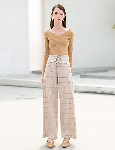 Damskie Vintage Spodnie szerokie nogawki Spodnie - Nadruk