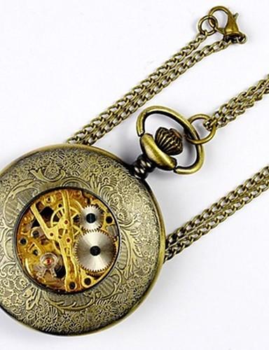 Dla par Kwarcowy Zegarek kieszonkowy Chiński Hollow Grawerowanie Na codzień Stop Pasmo Luksusowy Na co dzień Nowoczesne Złoty
