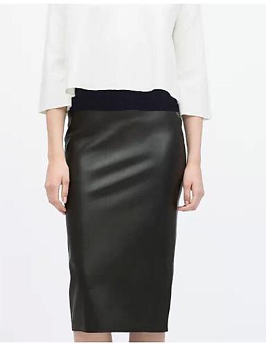 Damskie Bawełna Bodycon Spódnice - Klubowa Jendolity kolor