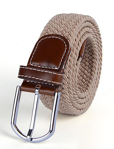 Χαμηλού Κόστους Men's Belt-Ανδρικά Μονόχρωμο Γραφείο Αγνό Χρώμα - Ζώνη μέσης