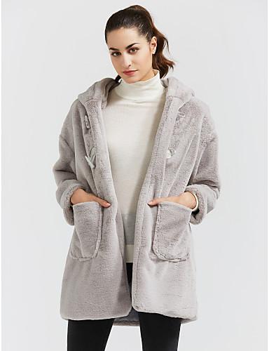 3f708e15c7a9 Γυναικεία Καθημερινά   Εξόδου Ενεργό Χειμώνας Μεγάλα Μεγέθη Μακρύ Γούνινο  παλτό