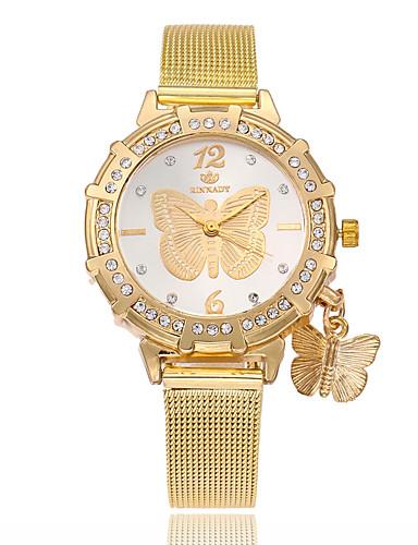 בגדי ריקוד נשים שעון יד Chinese חיקוי יהלום סגסוגת להקה יום יומי / פרפר / אופנתי זהב