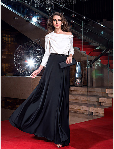 Eng anliegend Kapuze Pinsel Schleppe Stretch - Satin Cocktailparty / Abiball / Formeller Abend Kleid mit durch TS Couture®