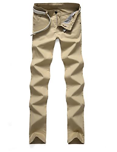 בגדי ריקוד גברים כותנה צ'ינו מכנסיים טלאים
