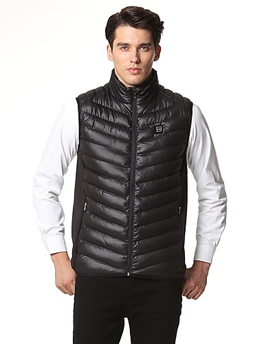 cheap Outdoor Clothing-Snowwolf® Men's Hiking Vest Outdoor Winter Keep Warm Vest / Gilet Full Length Visible Zipper Camping / Hiking / Ski / Snowboard / Fishing