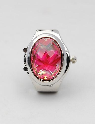 לזוג שעון טבעת Chinese חריתה חלולה / שעונים יום יומיים / מגניב סגסוגת להקה פאר / יום יומי / אופנתי כסף