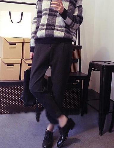 בגדי ריקוד נשים כותנה הארם מכנסיים אחיד / סתיו / ליציאה