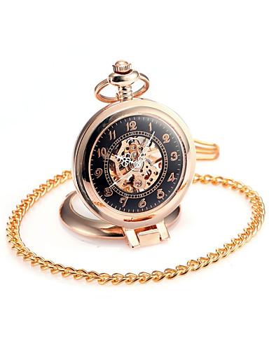 לזוג קווארץ שעון כיס Chinese חריתה חלולה שעונים יום יומיים סגסוגת להקה פאר יום יומי גולגולת אופנתי זהב