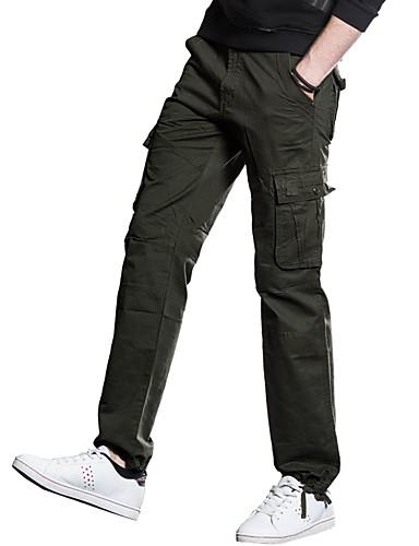 בגדי ריקוד גברים פאנק & גותיות סגנון רחוב מידות גדולות כותנה מכנסי טרנינג צ'ינו מכנסיים אחיד