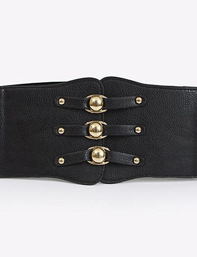 cheap Women's Belt-Women's Vintage / Casual Leather / Fabric Wide Belt