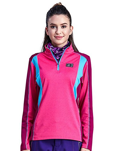 cheap Outdoor Clothing-Women's Hiking Jacket Outdoor Spring, Fall, Winter, Summer Windproof Warm Quick Dry Stretchy Top Single Slider Hiking Climbing Running Orange / Fuchsia / Dark Navy Hiking Fleece Camping & Hiking