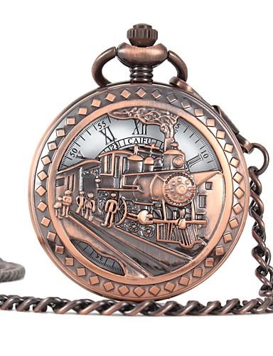 לזוג קווארץ שעון כיס שעוני שלד Chinese חריתה חלולה שעונים יום יומיים סגסוגת להקה פאר יום יומי גולגולת ברונזה