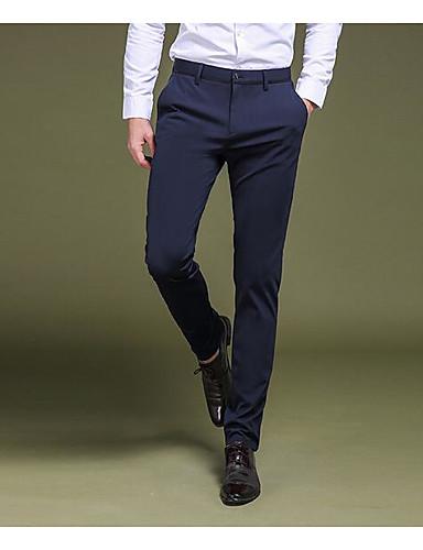 בגדי ריקוד גברים פשוט Business מכנסיים אחיד / עבודה