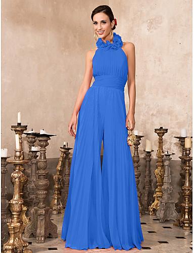 cd1c2575d33c Tute All americana Lungo Chiffon Serata formale Vestito con A pieghe di TS  Couture®