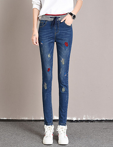 בגדי ריקוד נשים כותנה הארם / ג'ינסים מכנסיים דפוס / סתיו