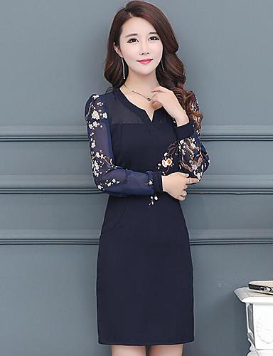 femme grandes tailles simple gaine robe imprim couleur pleine au dessus du genou de 6465122. Black Bedroom Furniture Sets. Home Design Ideas