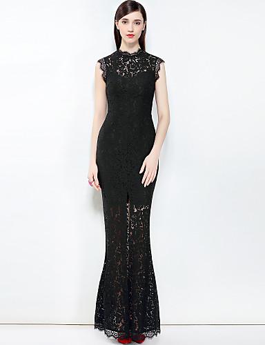 עומד מקסי בסיסי, צבע אחיד - שמלה צינור בוהו בגדי ריקוד נשים