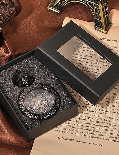 לזוג שעוני שלד / שעון כיס Chinese חריתה חלולה / שעונים יום יומיים סגסוגת להקה פאר / יום יומי / גולגולת שחור