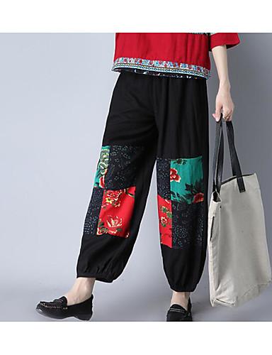 בגדי ריקוד נשים כותנה צ'ינו מכנסיים דפוס / סתיו / חורף