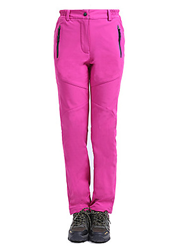 cheap Outdoor Clothing-Women's Hiking Pants Outdoor Waterproof Thermal / Warm Windproof Fleece Lining Fall Winter Fleece Pants / Trousers Skiing Camping / Hiking Snowsports Red Pink Grey Women L Women XL Women XXL