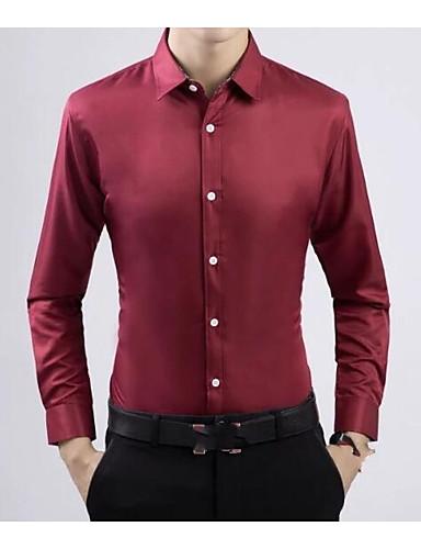 אחיד עבודה חולצה - בגדי ריקוד גברים / שרוול ארוך