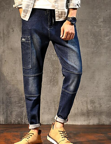 בגדי ריקוד גברים סגנון רחוב הארם מכנסיים אחיד