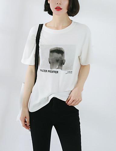 T-shirt Damskie Moda miejska Litera / Litera