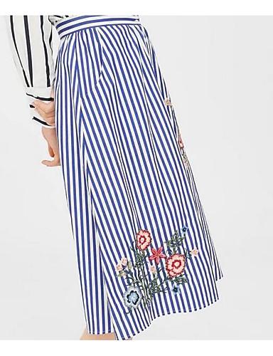 Damskie Wyrafinowany styl Bawełna Syrena Spódnice - Wyjściowe Prążki