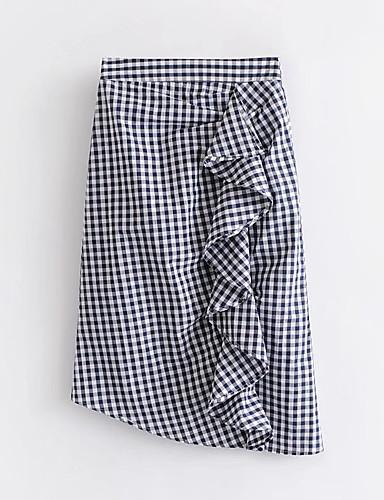 אחיד - חצאיות כותנה צינור בגדי ריקוד נשים / אביב