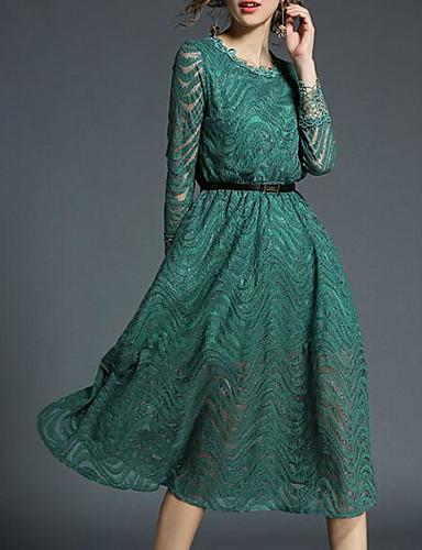 מידי צבע אחיד - שמלה נדן בסיסי בגדי ריקוד נשים