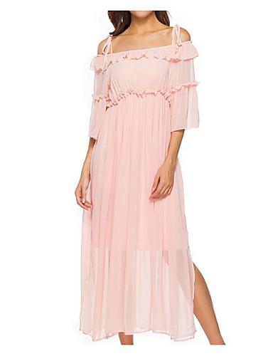 U עמוק מידי צבע אחיד - שמלה נדן בסיסי בגדי ריקוד נשים