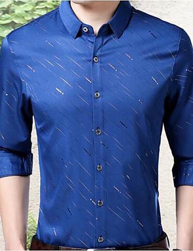 אחיד בסיסי עבודה מידות גדולות חולצה - בגדי ריקוד גברים / שרוול ארוך
