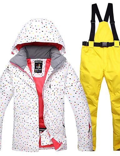 670f3f64ea3a Χαμηλού Κόστους Ski  amp  Snowboard-Γυναικεία Μπουφάν και παντελόνι για σκι  Αδιάβροχη Αντιανεμικό Ζεστό