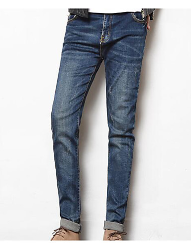 בגדי ריקוד גברים סגנון רחוב ג'ינסים מכנסיים אחיד