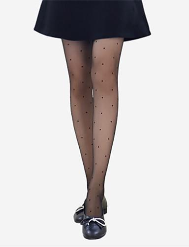 בגדי ריקוד נשים דק גרביונים - אחיד / מנוקד