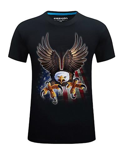 T-shirt Męskie Podstawowy Moda miejska,Nadruk Geometryczny Zwierzę