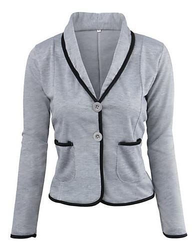 billige Topper til damer-Skjortekrage Sett Dame - Ensfarget Chinoiserie Lyseblå