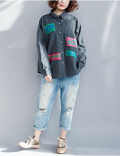 abordables Hauts pour Femme-Tee-shirt Grandes Tailles Femme, Couleur Pleine - Coton Franges Manche Papillon Bleu Marine