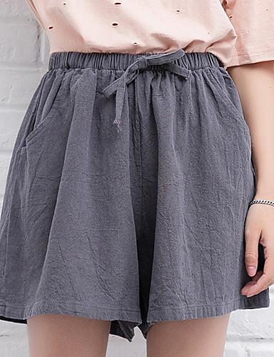 Damskie Aktywny Luźna Spodnie szerokie nogawki / Typu Chino Spodnie Solidne kolory