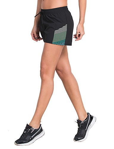 d8de78d596a7 ... corsa Gli sport A strisce Pantaloncini   Cosciali Yoga Fitness  Allenamento in palestra Abbigliamento sportivo Leggero Asciugatura rapida  Traspirabilità