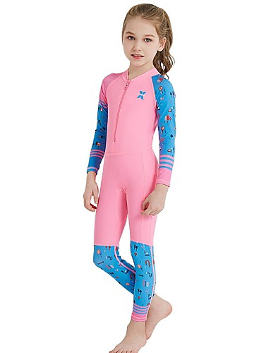 Sbart Lycra Fabric Diving Suits Diveskin Sun Protection Clothing Unti-uv Swimwear Snorkeling Surf Rush Guard Body Suits Wet Suit Clear-Cut Texture Water Sports Sports & Entertainment