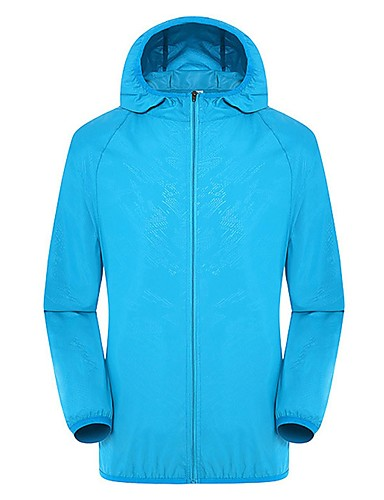 cheap Outdoor Clothing-Unisex Hiking Jacket Outdoor Lightweight Windproof UV Resistant Quick Dry Spring, Fall, Winter, Summer Jacket Camping / Hiking Outdoor Exercise Travel Sky Blue Green Pink XL XXL XXXL