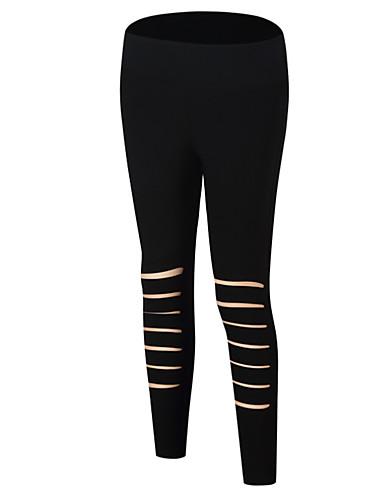 Damskie Podstawowy Legging - Solidne kolory, Otwór Średni Talia