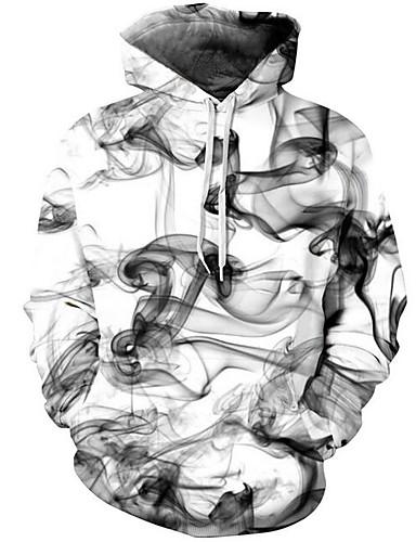 abordables Fantasias oscuras-Hombre Chic de Calle / Tejido Oriental Pantalones - Geométrico / 3D Blanco / Con Capucha / Manga Larga / Otoño