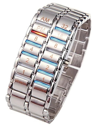 Bărbați Ceas digital 30 m Cronograf Creative Model nou Oțel inoxidabil Bandă Piloane de Menținut Carnea Lux Atârnat Negru / Argint - Negru Argintiu Un an Durată de Viaţă Baterie / SSUO LR626