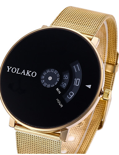 c3556fe845f Mulheres Casal Relógio Casual Relógio Esportivo Relógio de Moda Quartzo  Prata   Dourada Relógio Casual Digital Luxo Casual - Ouro   Branco Preto    Prateado ...