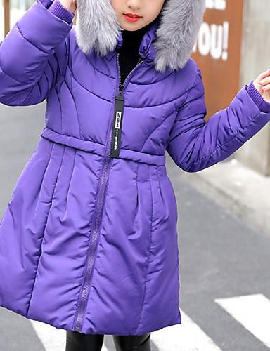 Dla dziewczynek Jendolity kolor Odzież puchowa / pikowana Black Purple