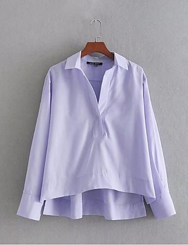 Koszula Damskie Urocza Aktywny Jendolity kolor