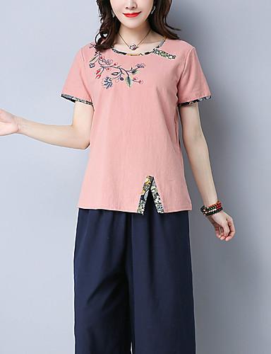 T-shirt Damskie Vintage Kwiaty